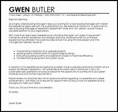 Building Manager Uk by Building Manager Cover Letter Sle Cover Letter