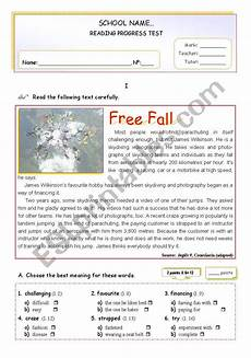 sport worksheets intermediate 15809 sports quot free fall quot reading comprehension esl worksheet by mena22