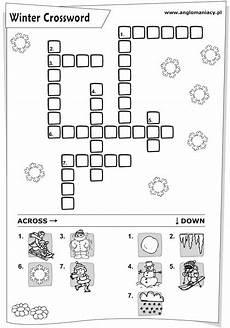 winter crossword worksheets 19981 winter crossword with pictures worksheet for kindergarten 3rd grade lesson planet