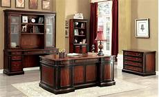 cherry home office furniture strandburg cherry and black home office set from furniture