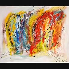 grand tableau contemporain abstrait multicolore peinture