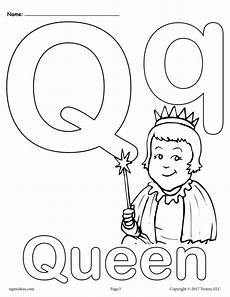 letter q alphabet coloring pages 3 free printable
