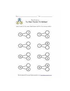 2nd grade math worksheet number bonds number bonds 2 though 9 worksheet 1 maths number bonds