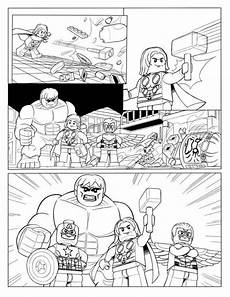 coloring page lego marvel p10