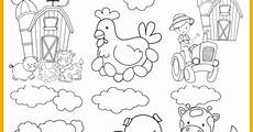 Malvorlagen Tiere A4 Farm Animal Printable Colouring Pages