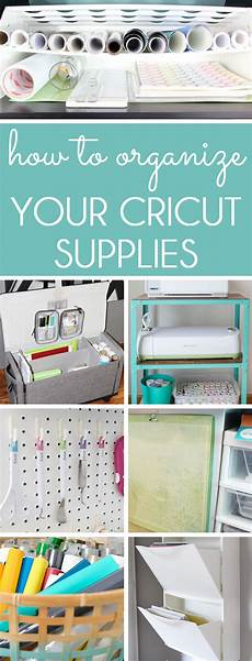organizing with style how to organize cricut supplies
