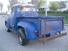 ford f 100 cab chassis 1955 blue white black for sale 1955 ford f100 pick up 1955 ford
