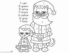 color by number cat coloring pages 18089 pete the cat coloring pages color by number free printable coloring pages