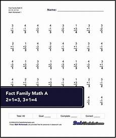 addition subtraction and multiplication worksheets for grade 2 4851 these 40 problem addition and subtraction fact family worksheets are for either pr