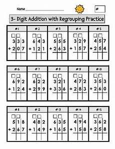 digit addition with regrouping worksheets matem 225 tica alfabetiza 231 227 o e atividades