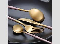 Chic Rose Gold/Silver Dinnerware Set