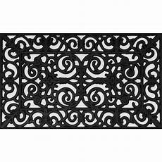 Black Rubber Door Mats Outside wrought iron collection black half 30 in x 18