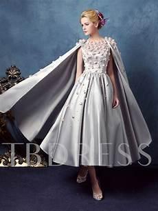 a line scoop beading flowers tea length prom tbdress com