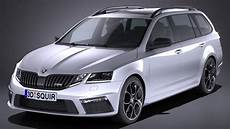 Skoda Octavia Combi Rs 2017 3d Model Cgstudio