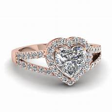 heart halo diamond micro pave ring in 14k rose gold fascinating diamonds