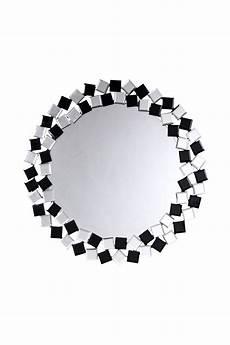 deko spiegel rund spiegel deko wandspiegel wanddeko rund mosaik schwarz ebay