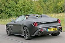 aston martin vanquish zagato volante and speedster 2018 spy photos by car magazine