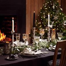 weihnachtstisch festlich dekorieren table decoration ideas for festive dining