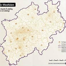 plz karte nrw nordrhein westfalen nrw vektorkarte landkreise gemeinden