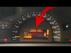 How To Remove Or Change Speed Limit On The Mercedes W203