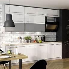 küchen grau weiß k 252 chenzeile k 252 che 240cm grau wei 223 hochglanz neu kaufen