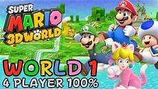 mario 3d world world 1 4 player 100 walkthrough