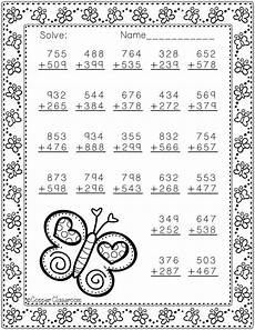 3 digit subtraction worksheets for grade 3 10567 3 nbt 2 themed 3 digit addition with regrouping freebie math addition 2nd grade math