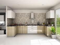 Modular Kitchen Interiors Munnar L Shaped Modular Kitchen Designs India Homelane