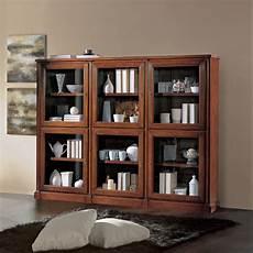 libreria ante vetro libreria in legno 6 ante con vetro