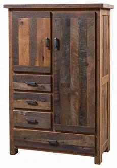 Pioneer 4 Drawer Armoire Reclaimed Barn Wood Rustic