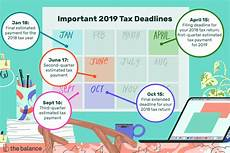 federal income tax deadlines in 2019