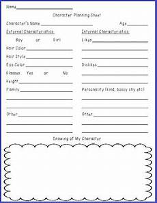 writing fiction worksheets 22272 free character planning sheet for realistic fiction writing reading and writing