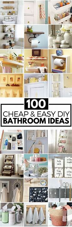 Craft Ideas For Bathroom 100 Cheap And Easy Diy Bathroom Ideas Diy Crafts Ideas