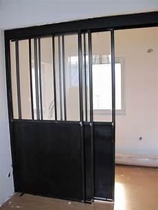 porte coulissante intérieure 95662 s 233 paration vitr 233 e avec porte coulissante bigood