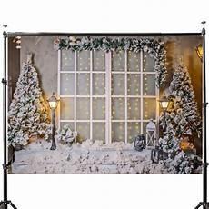 5x7ft Tree Snow Lights Flags by 3x5ft 5x7ft Vinyl Tree Snow Window Light