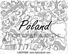 Malvorlagen Poland Poland Coloring Book Vector Illustration Clip