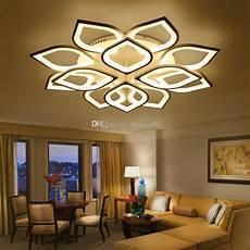 2019 new acrylic modern led ceiling chandelier lights for living room bedroom home dec lara