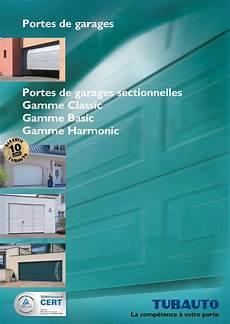 calam 233 o catalogue tubauto portes de garages sectionnelles