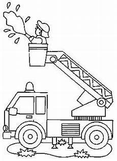Malvorlagen Feuerwehr Einfach Feuerwehr Ausmalbilder 05 Basteln