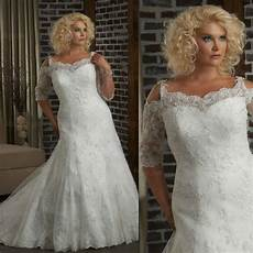 2013 half sleeves fit and flare lace plus size bridal wedding dress in wedding dresses from