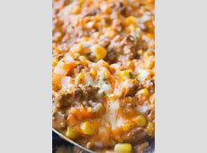 Cheeseburger Casserole with Pillsbury Biscuits   This is