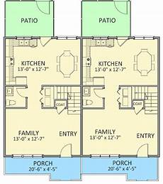 multi family house plans duplex traditional multi family duplex 46270la architectural