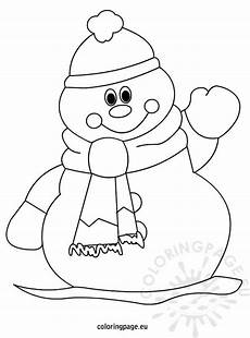 winter snowman coloring page for coloring page