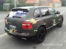 idzif pro wrapping camouflage militaire sur porsche cayenne