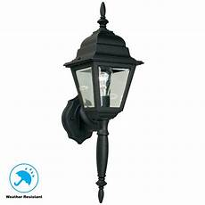 hton bay 1 light black outdoor wall l hb7023p 05 the home depot