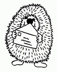 igel in brief ausmalbild malvorlage tiere
