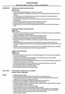 inside sales engineer resume sles velvet