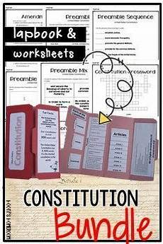 constitution lapbook worksheets bundle teaching geography for kids social studies classroom