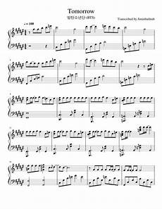 tomorrow sheet music for piano download free in pdf or midi