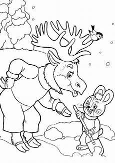 kostenlose ausmalbilder tiere im winter kinder ausmalbilder